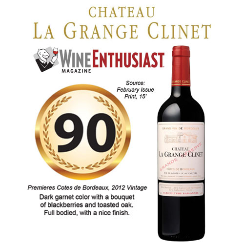Chateau La Grange Clinet Wine Spectator 90 Rating