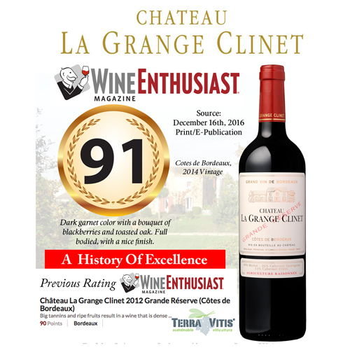 Chateau La Grange Clinet Wine Spectator 91 Rating