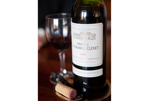 La Grange Clinet Bottle With Cork and Glass