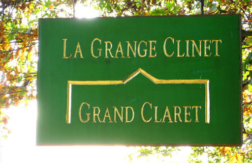 La Grange Clinet Green Sign with Gold Trim